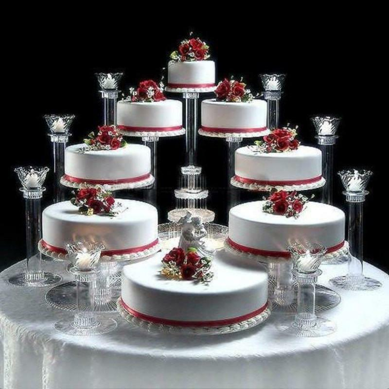 5 tier cascade wedding cake stand stands set 8 tier cascade wedding cake stand or cake ebay 10453