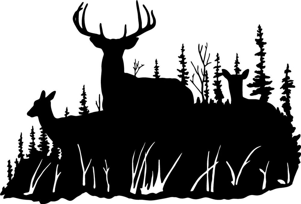 Deer Doe Deer Family Wall Decal Home Decor Large Hunting
