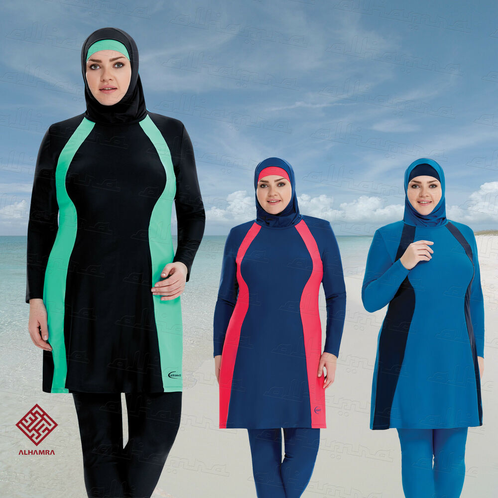 AlHamra Full Cover Marina Burkini Modest Women Swimsuit ...