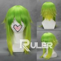 Short Vocaloid-Gumi Color Mixed green yellow Anime Cosplay party Wigs COS-260A