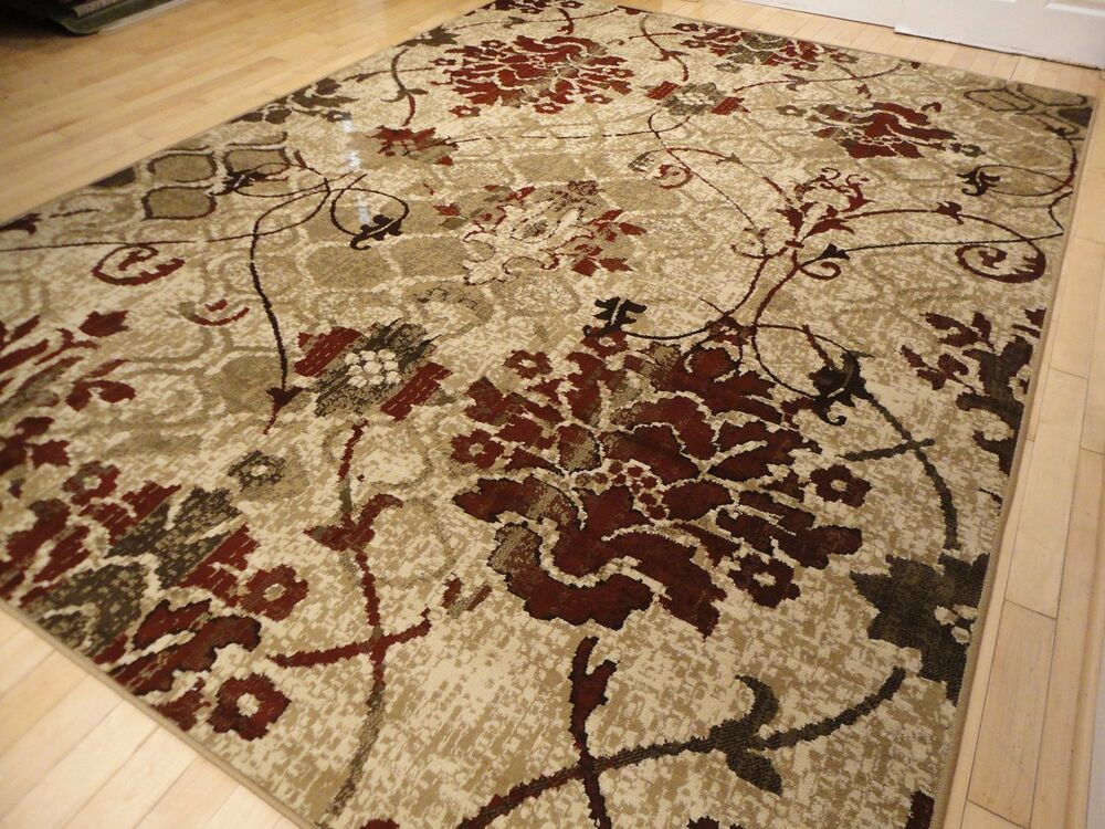 Modern rug contemporary area rugs burgundy 8x10 abstract for Red area rugs contemporary
