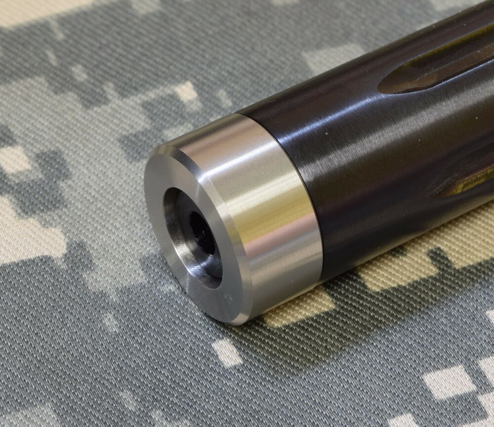Stainless steel bull barrel muzzle thread protector