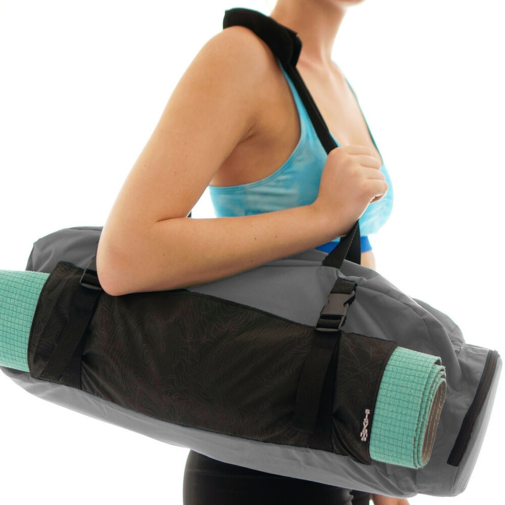 Large Yoga Mat Bag Adjustable Strap Zipper Pocket Carrier
