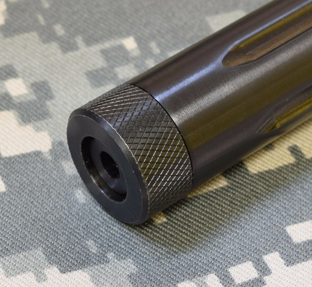 Steel bull barrel knurled thread protector