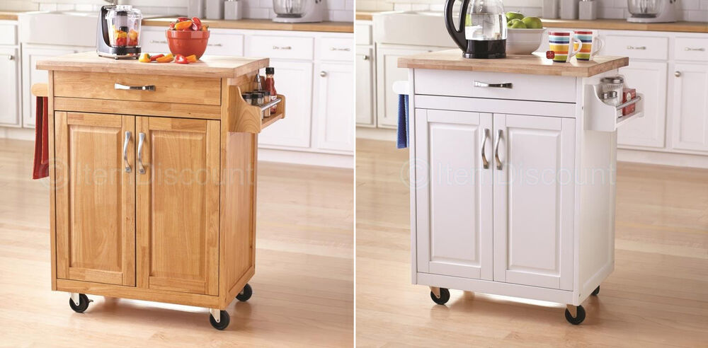 Portable Bar Island : Portable kitchen island cart microwave table cabinet