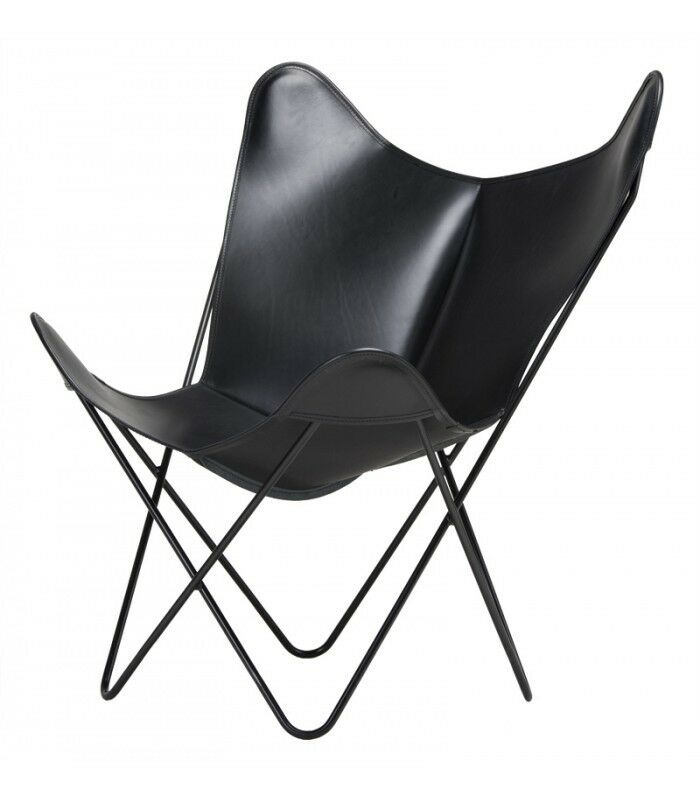 classic cover cowhide leather bkf butterfly chair only cover ebay. Black Bedroom Furniture Sets. Home Design Ideas
