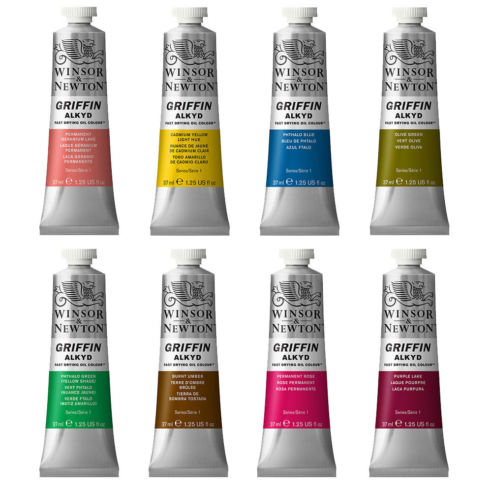 Details About Winsor Newton Griffin Alkyd Fast Drying Oil Paint 37ml Available In 48 Colours
