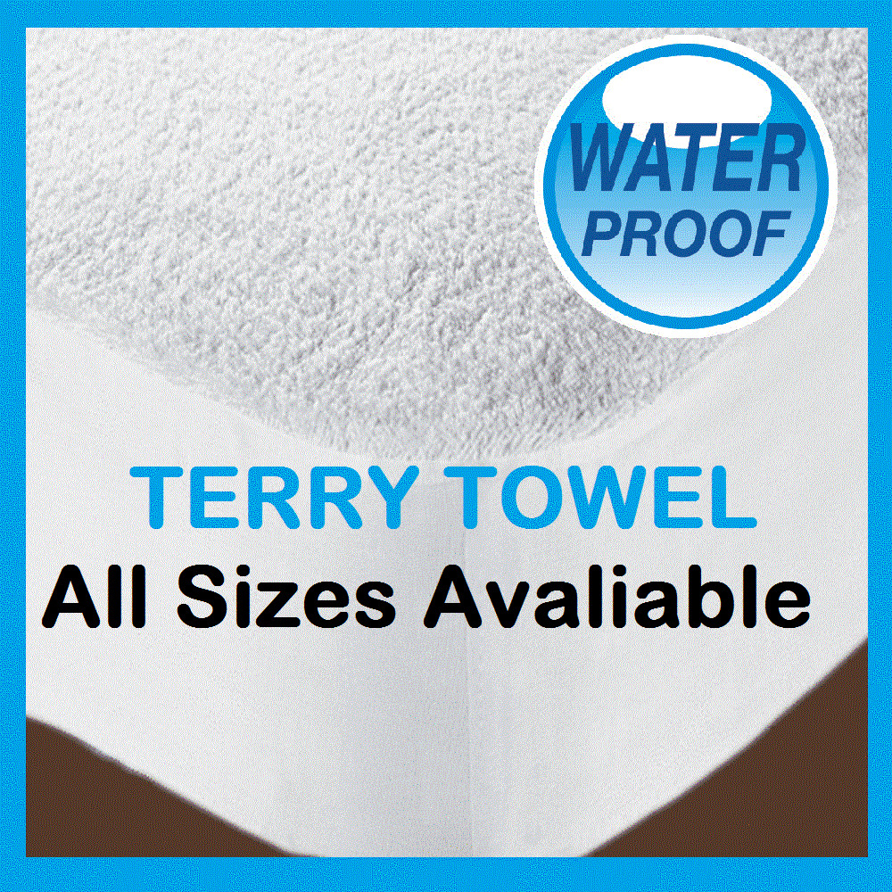 New Waterproof Terry Towel Mattress Protector Fitted Bed