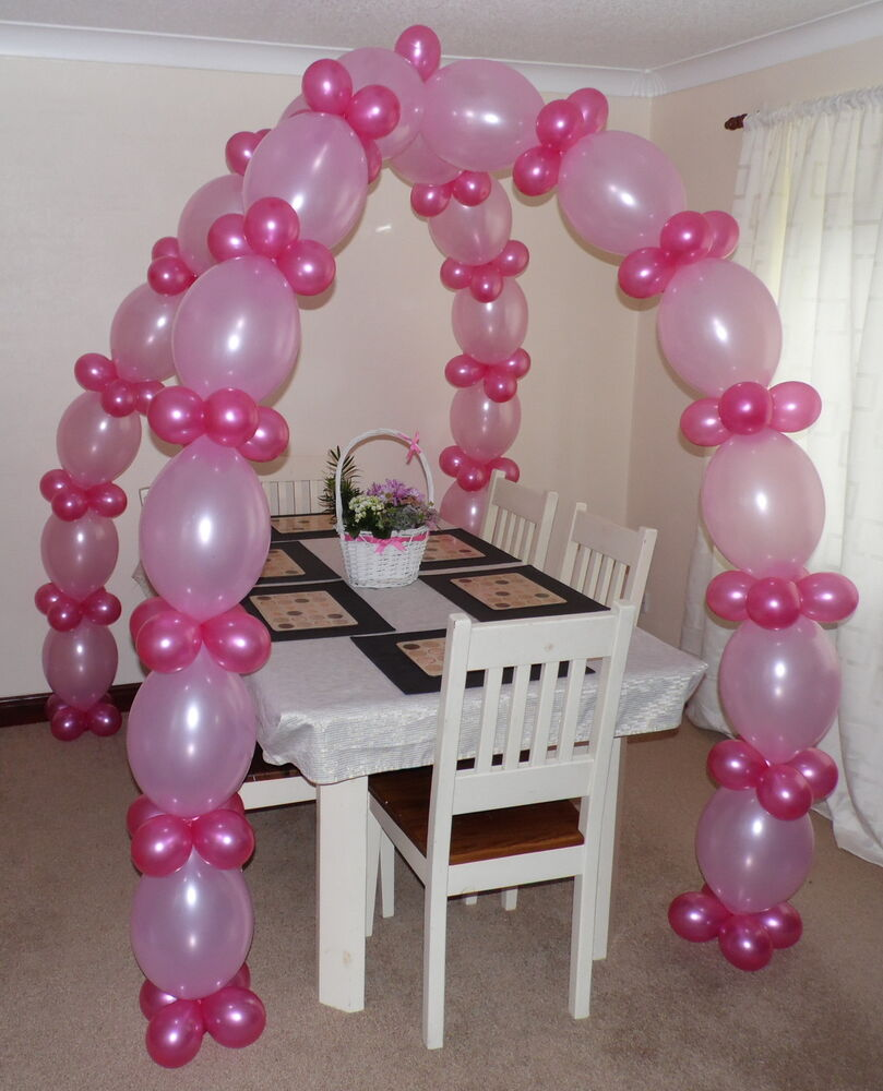 Link balloon arch floor decoration helium or air filled for Balloon arch no helium
