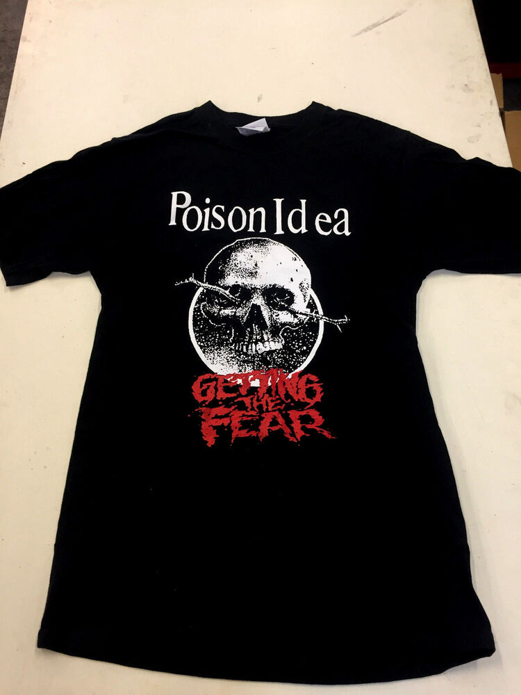 Poison idea shirt punk kbd septic death accused nofx for Thrash and burn shirt