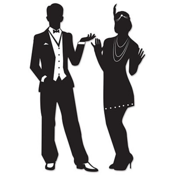 Gatsby Roaring 20s Couple Silhouettes Party Decorations Ebay