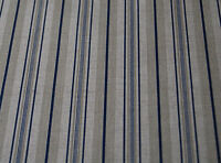 Oilcloth Table Linen Fabric Beautiful Italian Linen French Blue Ticking Design