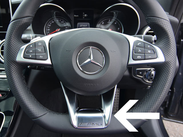 Mercedes Amg Steering Wheel Insert W205 C Class C117 Cla
