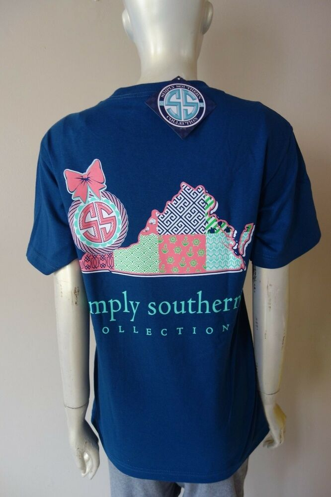 Simply Southern Collection Virginia State Cotton Navy Blue