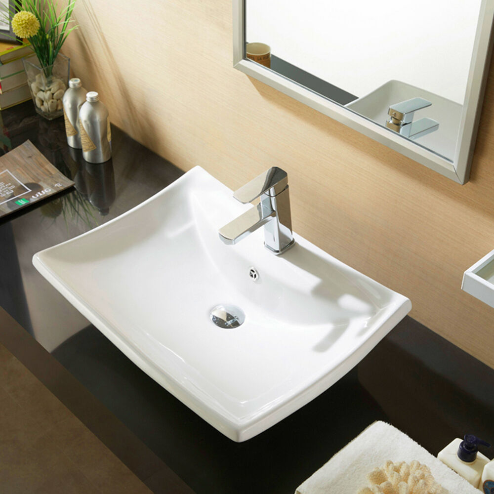 bathroom countertop for vessel sink white porcelain ceramic countertop basin vessel vanity 22054