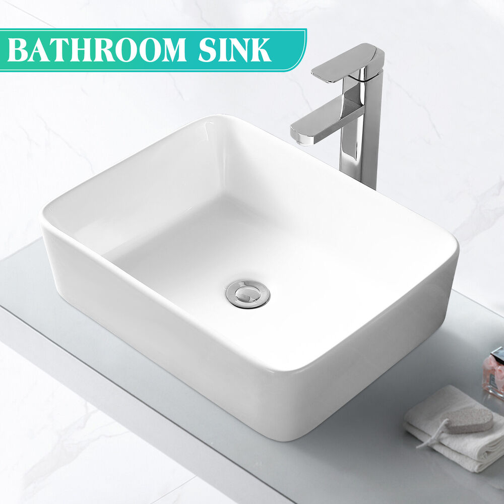 bathroom ceramic vessel vanity sink bowl white porcelain 16968