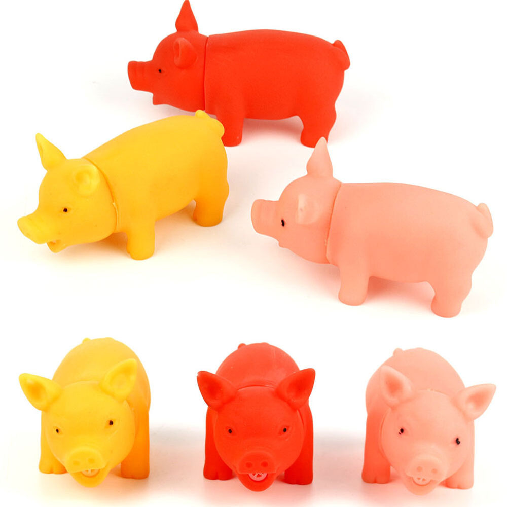 Small Latex Pig Dog Toy