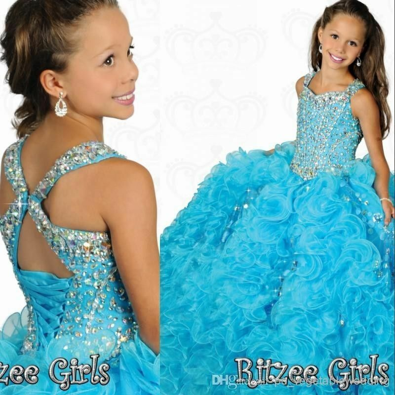 Girls pageant dress formal kids princess party prom gowns dress size 6
