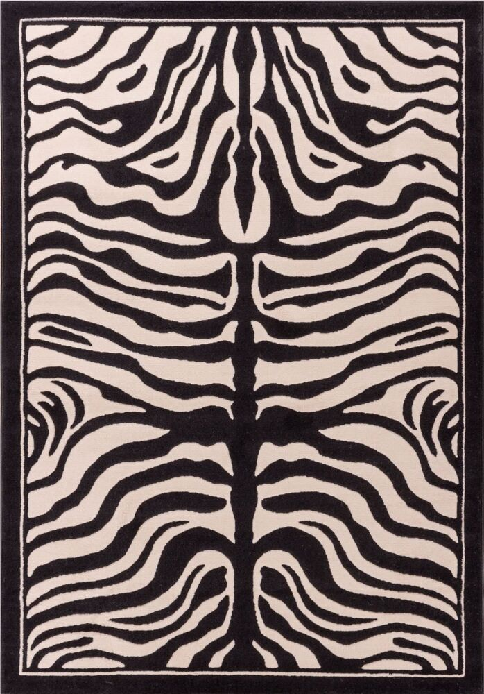 Zebra Rug Contemporary Area Rugs Animal 5x8 White Amp Black