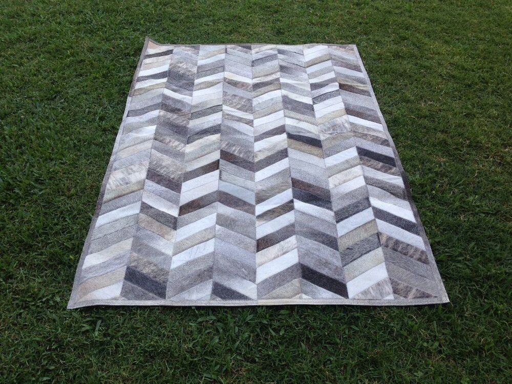 New Cowhide Rug Leather Animal Skin Patchwork Area Carpet