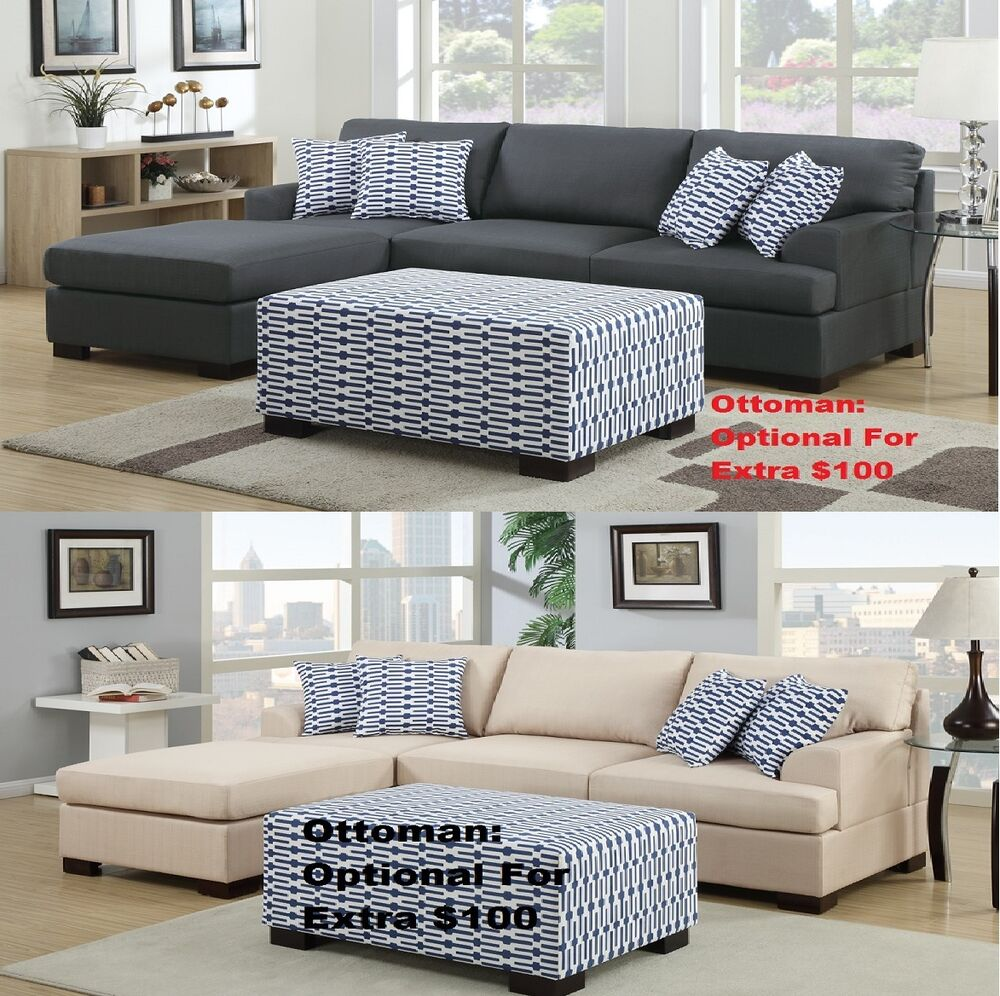 2 pcs sectional loveseat chaise in 2 colors for living for Chaise in living room