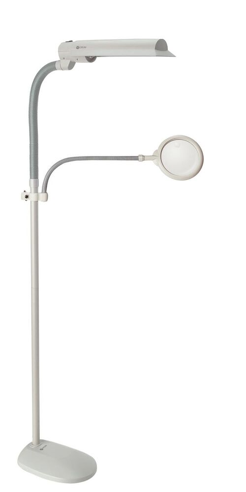 Ott Lite 18 Watt Easy View Floor Lamp With Magnifier New
