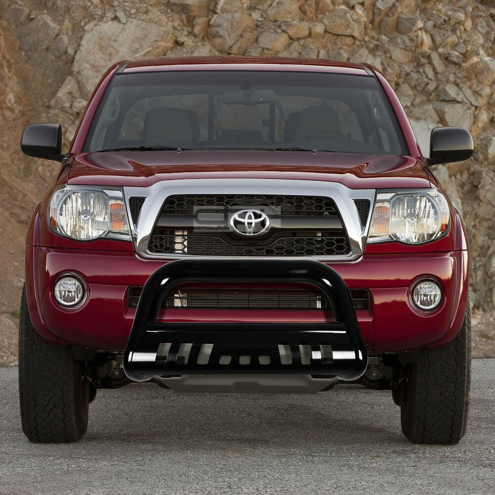 for 05 15 toyota tacoma truck 2wd 4wd stainless black bull bar grill skid plate ebay. Black Bedroom Furniture Sets. Home Design Ideas