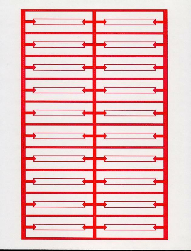 jukebox labels template 240 red white blank jukebox title strips 12 pages heavy
