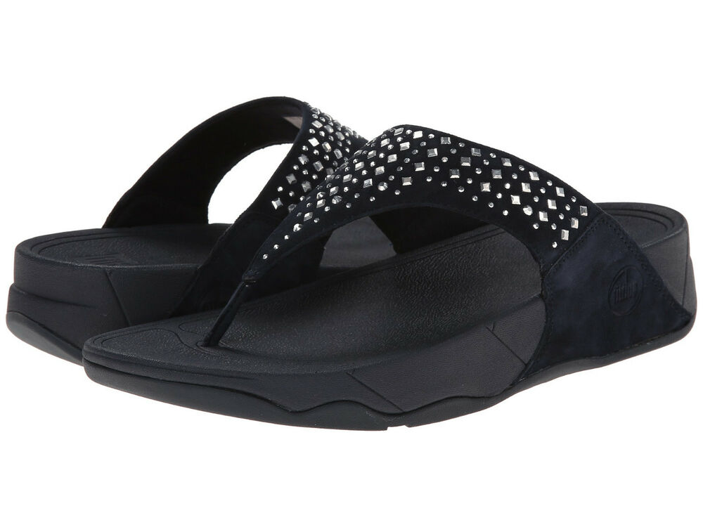 56020be3aad3b3 Details about NEW Ladies FitFlop NOVY Supernavy Wobbleboard Thong Flip  Flops Sandals - 8