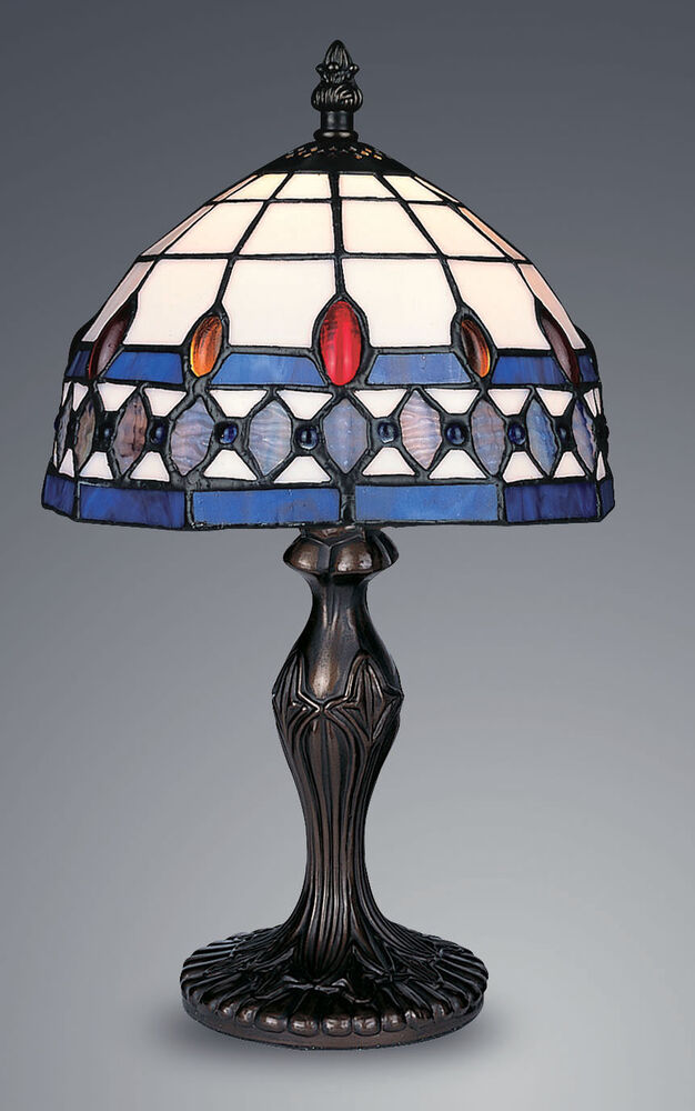 Unique Table Lamps : Tiffany style unique stained glass desk table lamp