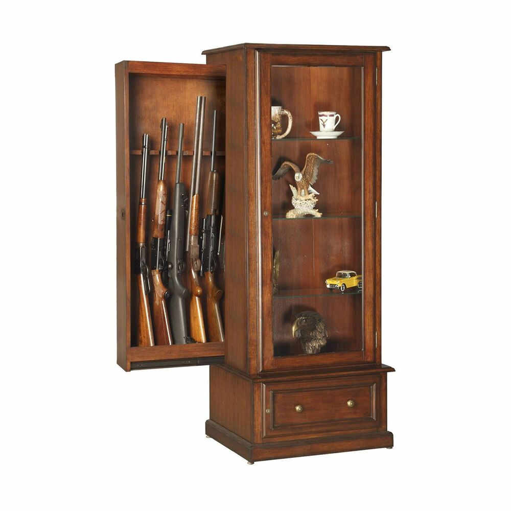 Mouse Over Image To Zoom Curio Gun Cabinet Combination