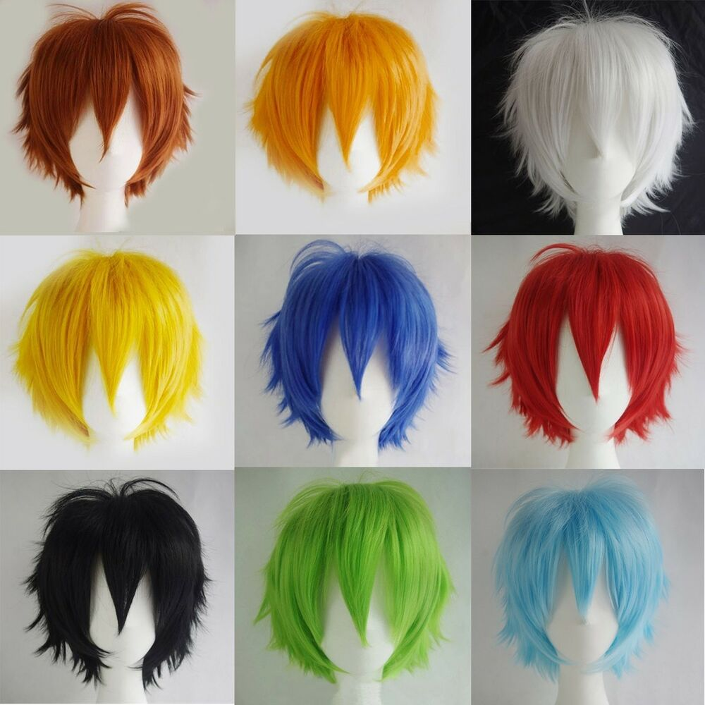 Unisex Male Female Straight Short Hair Wig Cosplay Party