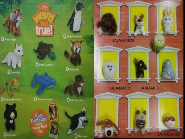 MCDONALD'S 2018 NATIONAL GEOGRAPHIC & 2016 SECRET LIFE OF PETS - PICK YOUR TOY