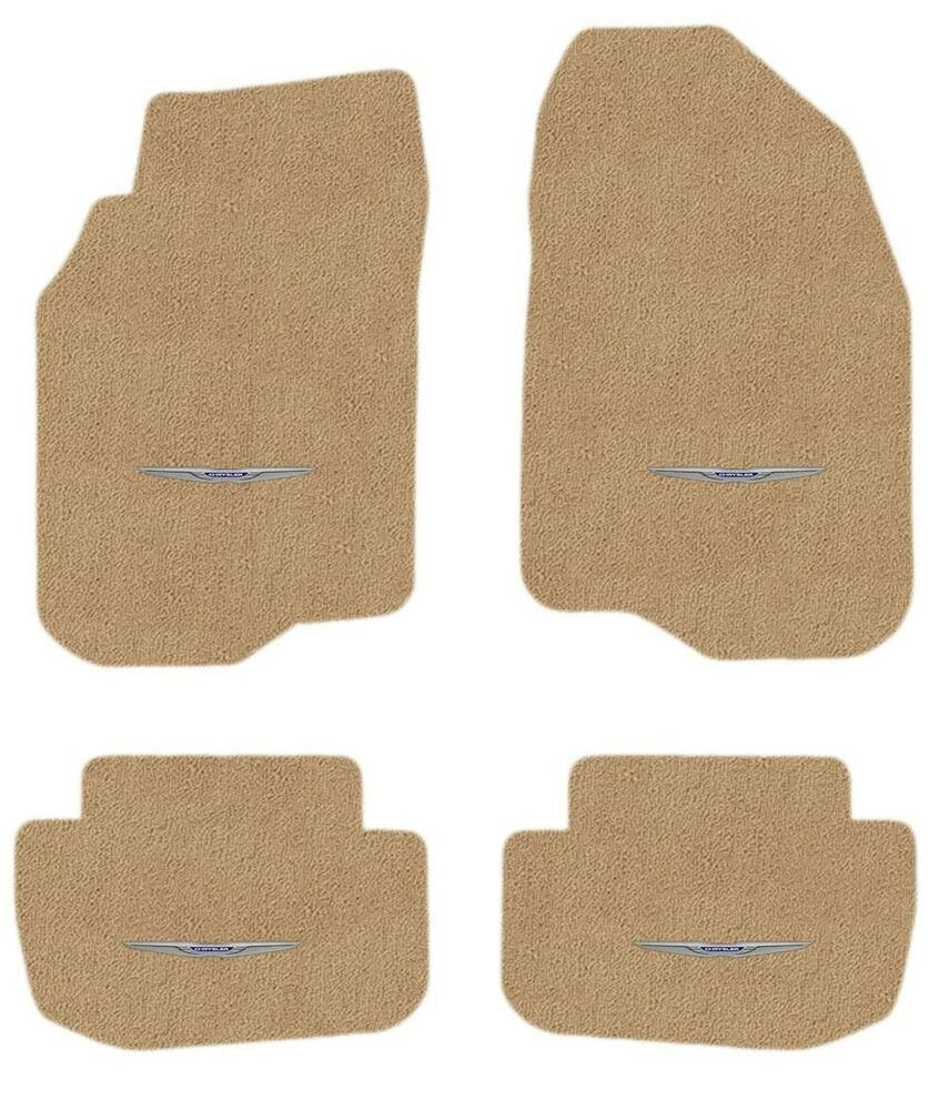 CHRYSLER 300C AWD TAN FLOOR MATS ALL FOUR WITH WINGS LOGO