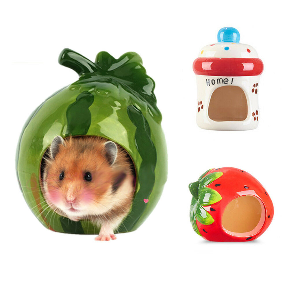 petit animal pet hamster cool lit c ramique maison nid de souris h risson rat pour cage ebay. Black Bedroom Furniture Sets. Home Design Ideas