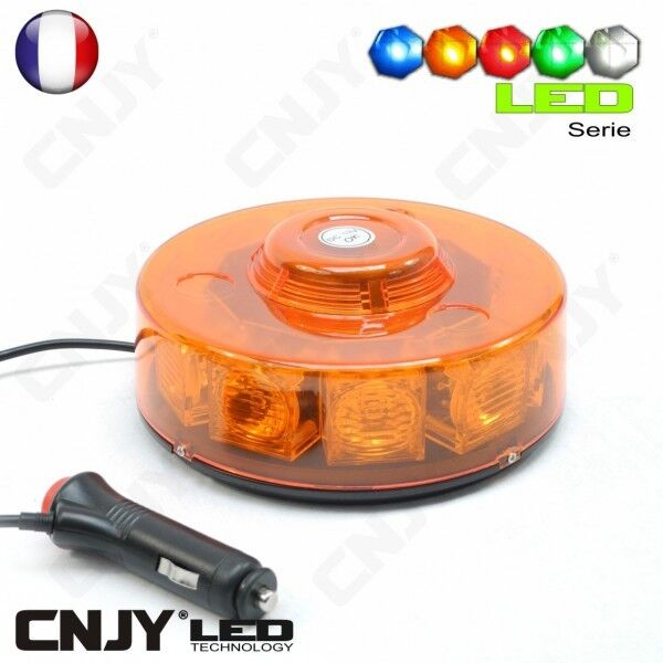 gyrophare de toit led 12 24v orange led capot prise allume cigare camion auto ebay. Black Bedroom Furniture Sets. Home Design Ideas