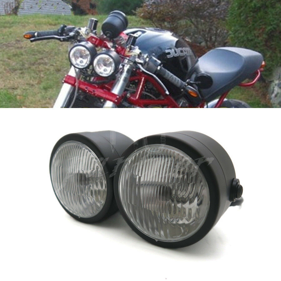 Dominator Headlight Wiring Diagram Library Vtx 1300 Gas Tank Black Twin Motorcycle Double Dual Lamp Street Fighter Naked 699999736696 Ebay