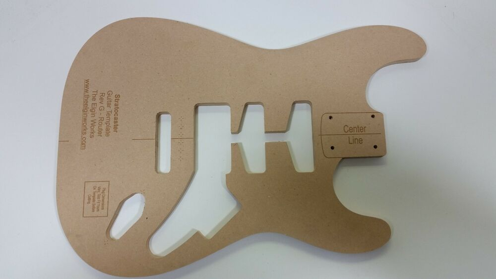 Stratocaster guitar body routing template ebay for Strat neck template