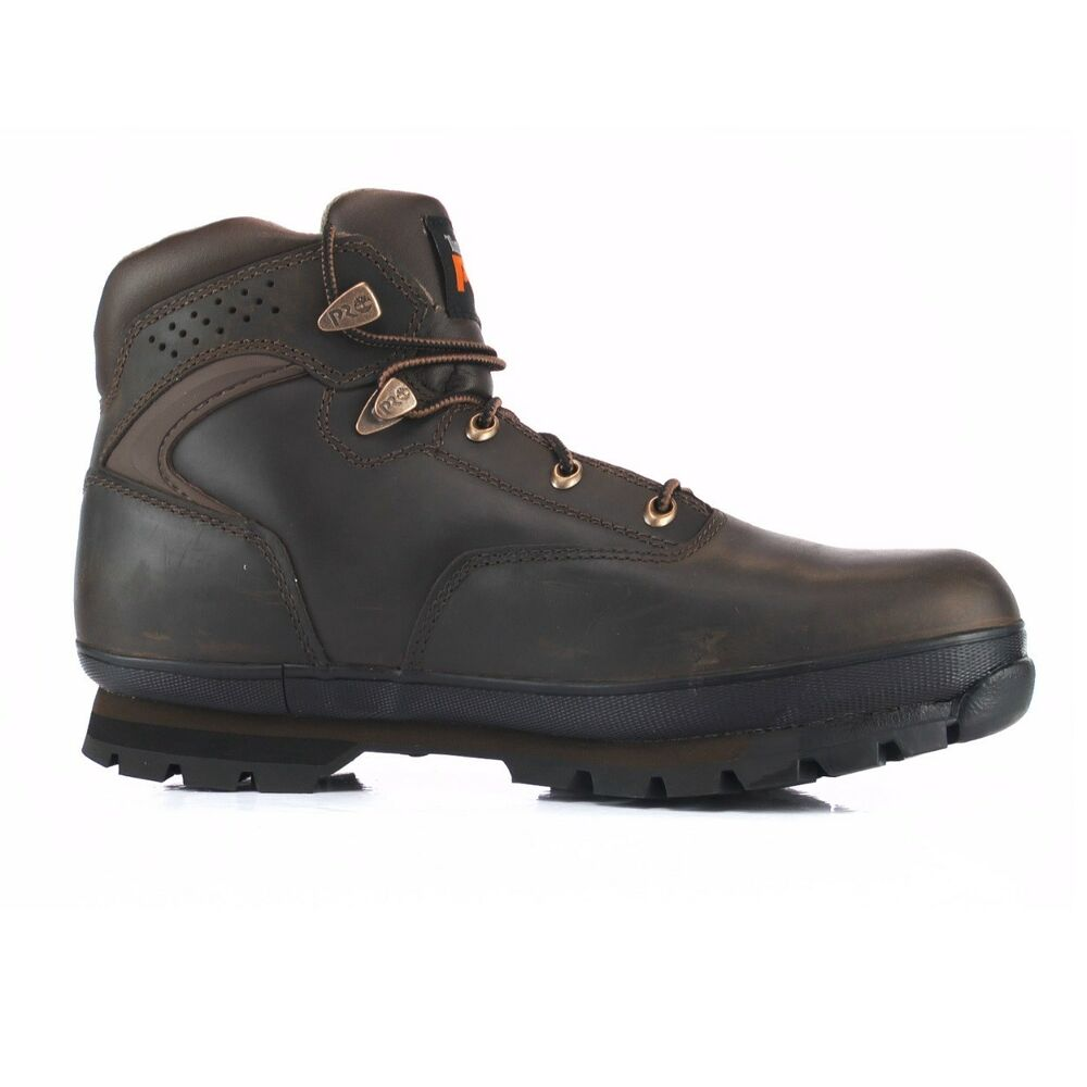 9046ee30bd6 Timberland Pro Euro Hiker Brown 6201065 Steel Toe Work Safety Boots Mens |  eBay