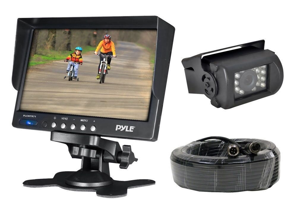 "Pyle Backup Camera >> NEW Pyle PLCMTR71 7"" Monitor w/ Backup Camera W/ 50FT ..."