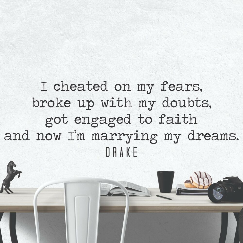 Details About Drake Quote Inspirational Motivational Wall Decal Art Home Office Decor