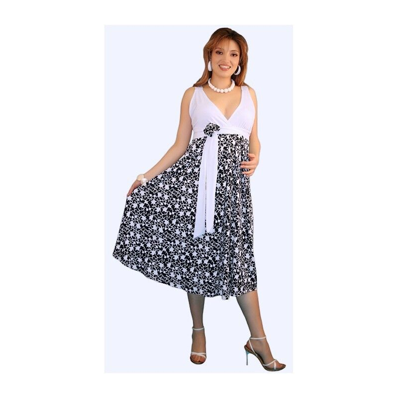 Maternity wedding black white casual dress long maxi for Maxi maternity dresses for weddings