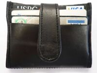 Soft leather Travel Pass, Oyster,Credit Card Holder Wallet Black