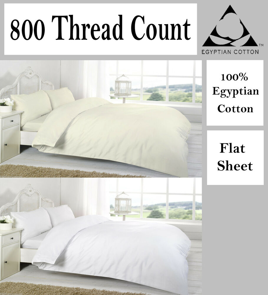Flat Sheets 800 Thread 100 Egyptian Cotton Finest Size
