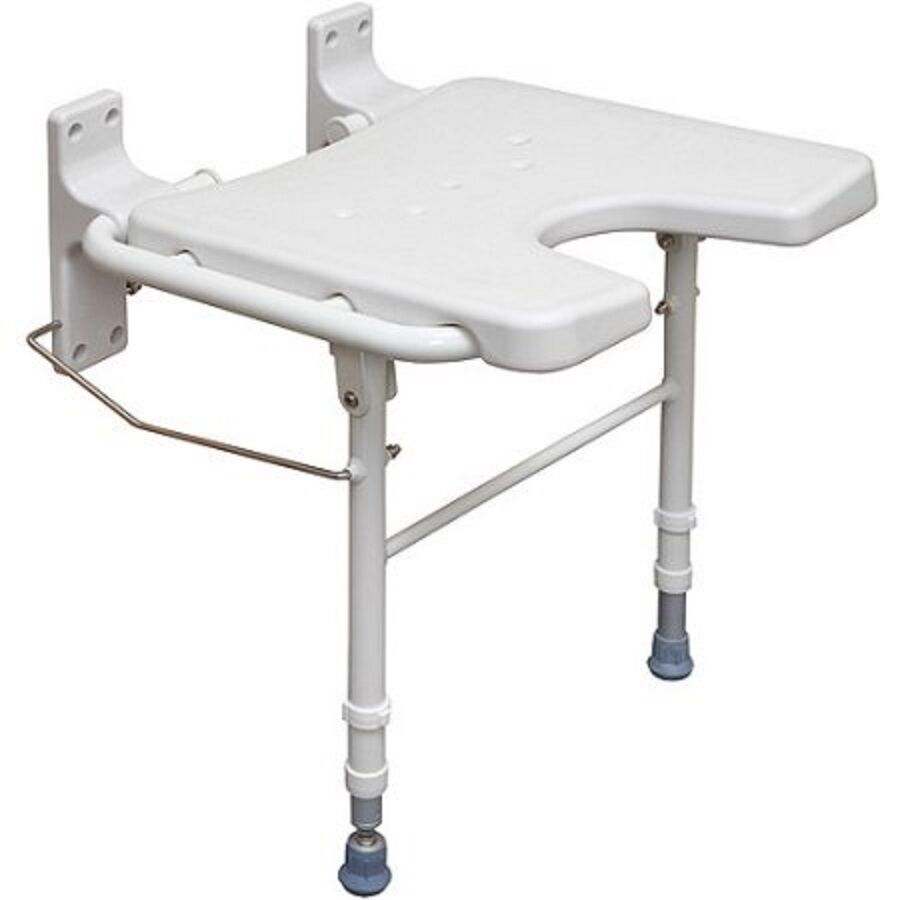 Fold Down Shower Seat Folding Safety Bench Wall Mount Bath Chair Handicapped