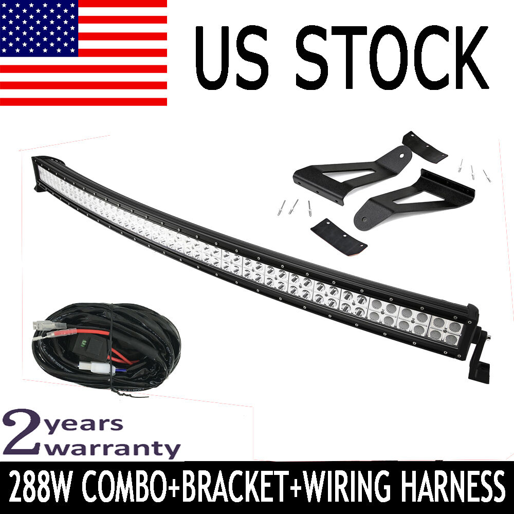 50 Quot Curved Led Work Light Bar Harness 84 01 Jeep Cherokee
