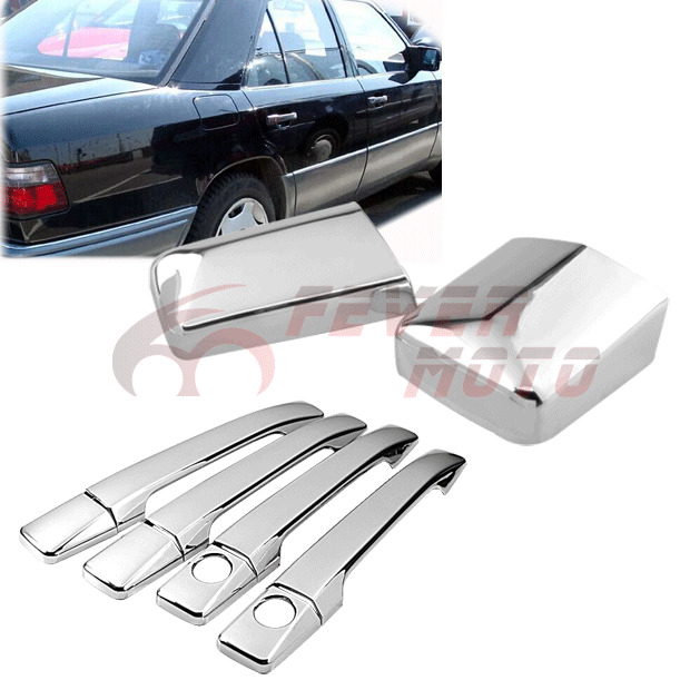 Chrome side door handle mirror covers for mercedes benz for Mercedes benz chrome accessories