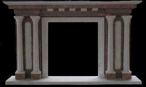 Classic Marble Fireplace Mantel And Surround With Four