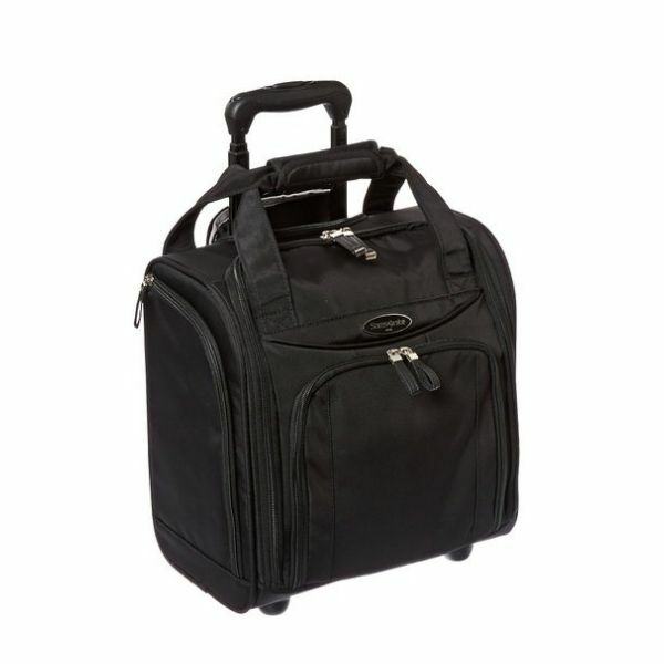 carry on luggage with wheels rolling wheeled under seat black travel bag small 43202570087 ebay. Black Bedroom Furniture Sets. Home Design Ideas