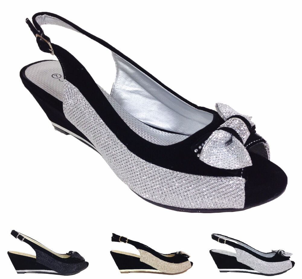 Black Special Occasion Shoes With Rhinestones
